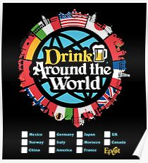 Drink Around the World - EPCOT Checklist v1 Poster