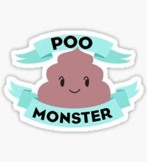 Poo Monster Sticker