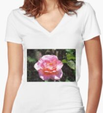 Quite Rosey Women's Fitted V-Neck T-Shirt