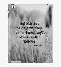 Matthew 6 Seek First iPad Case/Skin