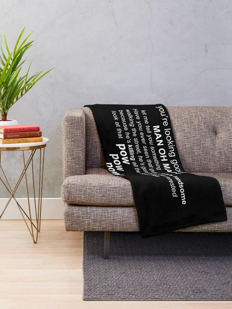 Alternate view of sebastian stan and anthony mackie Throw Blanket