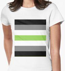 Agender flag Women's Fitted T-Shirt