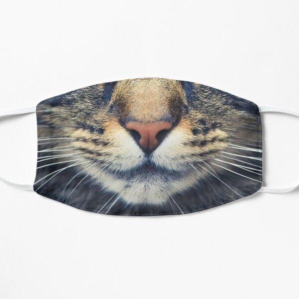 Realistic Cat Face Flat Mask