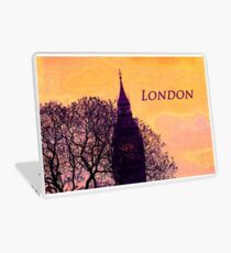 London in Bold Purple Laptop Skin