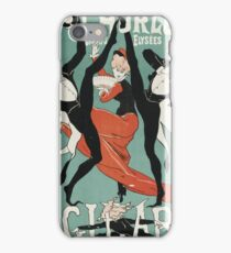 Jules Cheret - L Horloge Les Girard. Dancer painting: dance, ballet, dancing woman, ballerina, tutu, femine, women, dancer, disco, dancers, girls iPhone Case/Skin