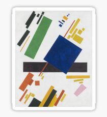 Kazimir Malevich - Suprematist Composition. Abstract painting: abstract art, geometric, expressionism, composition, lines, forms, creative fusion, spot, shape, illusion, fantasy future Sticker