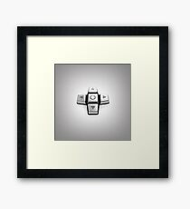 gaming console controller or joystick controller buttons Framed Print