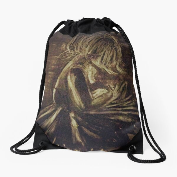 sad ballerina  Drawstring Bag