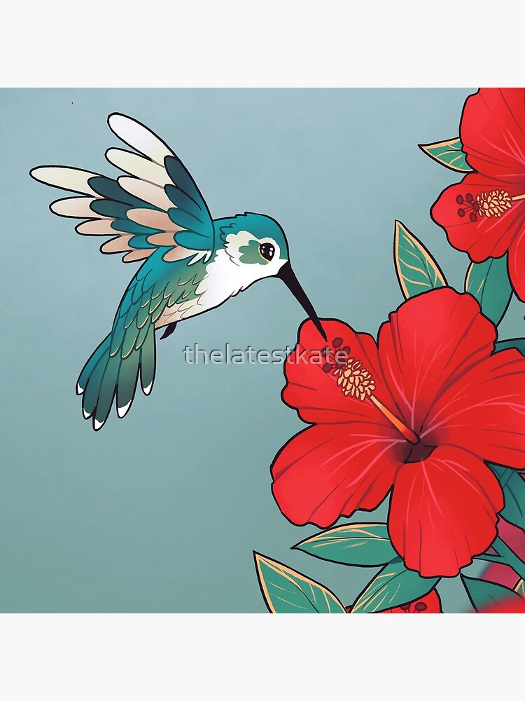 """""""You are worth looking after today"""" Hibiscus Hummingbird by thelatestkate"""