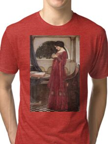 John William Waterhouse - The Crystal Ball . Woman portrait: sensual woman, girly art, female style, pretty women, femine, beautiful dress, cute, creativity, love, sexy lady Tri-blend T-Shirt