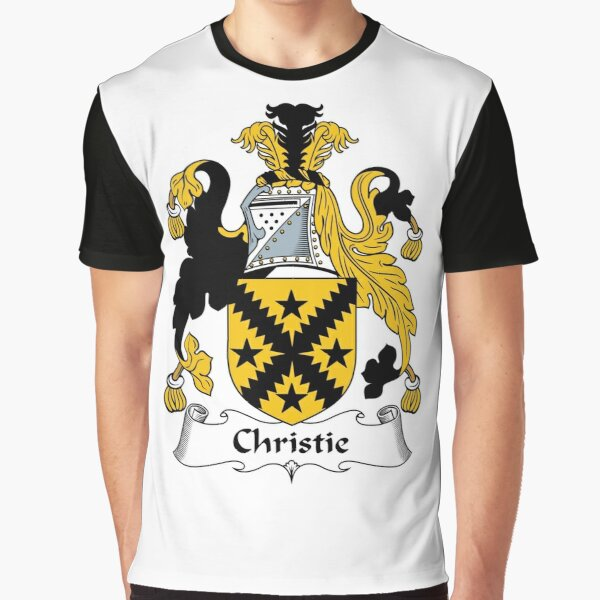 Christie Coat of Arms / Christie Family Crest Graphic T-Shirt