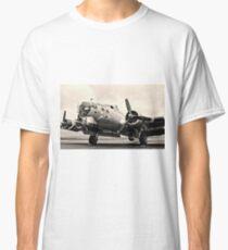 B-17 Bomber Airplane Aluminum Overcast Classic T-Shirt