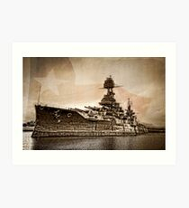 USS Texas Art Print