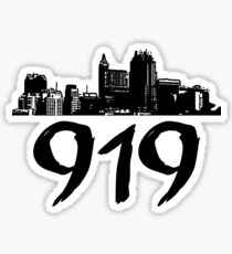 Raleigh - 919 (Black Logo) Sticker