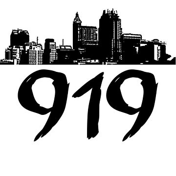 Raleigh - 919 (Black Logo) by Klay70