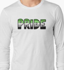 Aromantic Pride Flag Long Sleeve T-Shirt