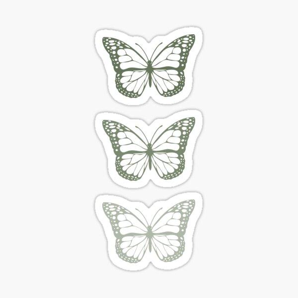 Sage Green Butterfly Trio Sticker