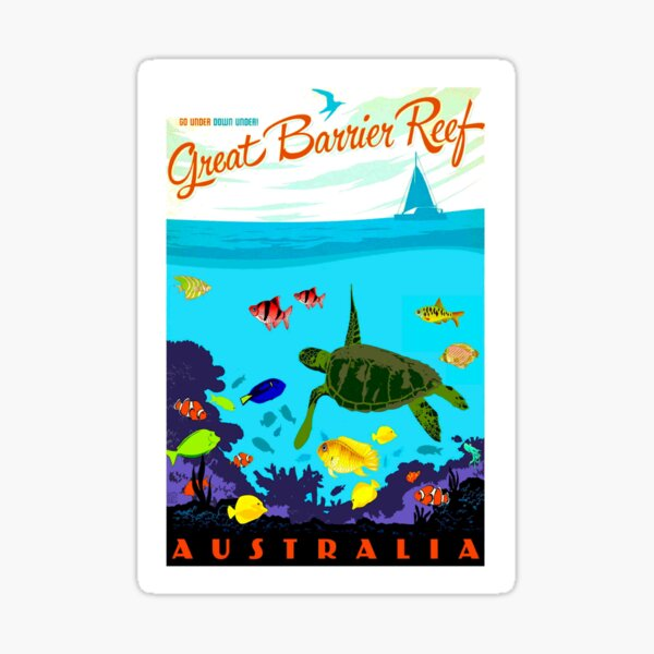 AUSTRALIA : Great Barrier Coral Reef Print Sticker