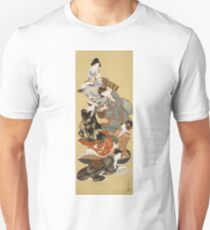 Katsushika Hokusai - Five Beautiful Women. Geisha portrait: Geisha, japanese, courtesan, pretty women, femine, beautiful dress, sleeping, asleep, love, sexy lady, erotic pose T-Shirt