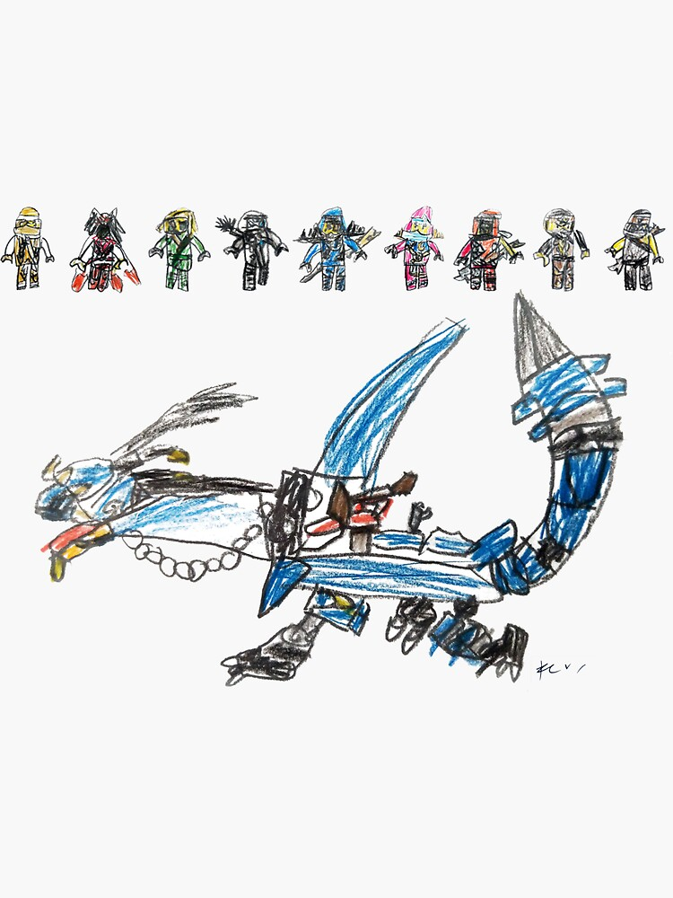 9 Ninja's and their Dragon by gosugimoto