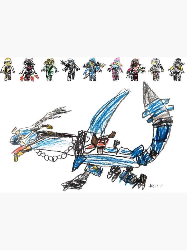 Ninjas and their Dragon by gosugimoto