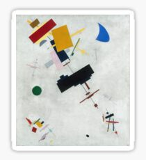 Kazimir Malevich - Suprematism. Abstract painting: abstract art, geometric, expressionism, composition, lines, forms, creative fusion, spot, shape, illusion, fantasy future Sticker