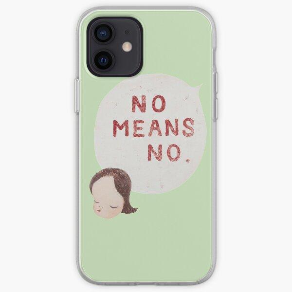 yoshitomo nara no means no painting iPhone Soft Case