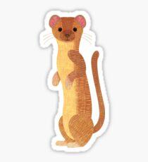 Pegatina W es para Weasel