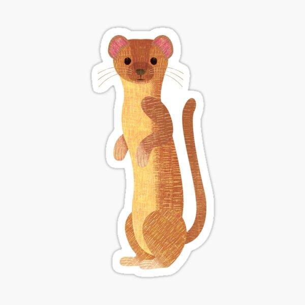 W is for Weasel Sticker