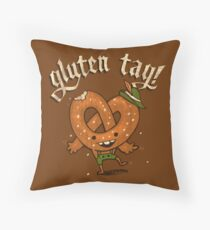 Gluten Tag! Throw Pillow
