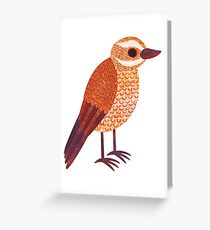 X is for Xenops Greeting Card