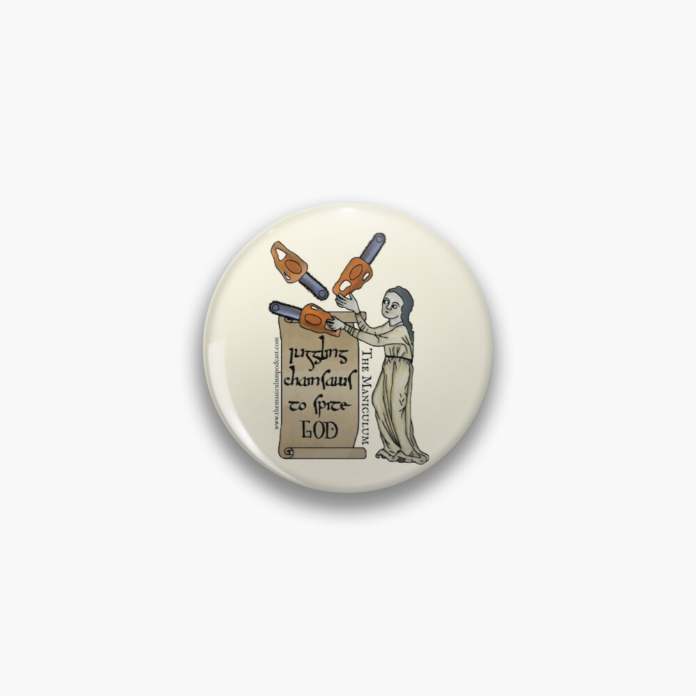 Juggling Chainsaws Pin
