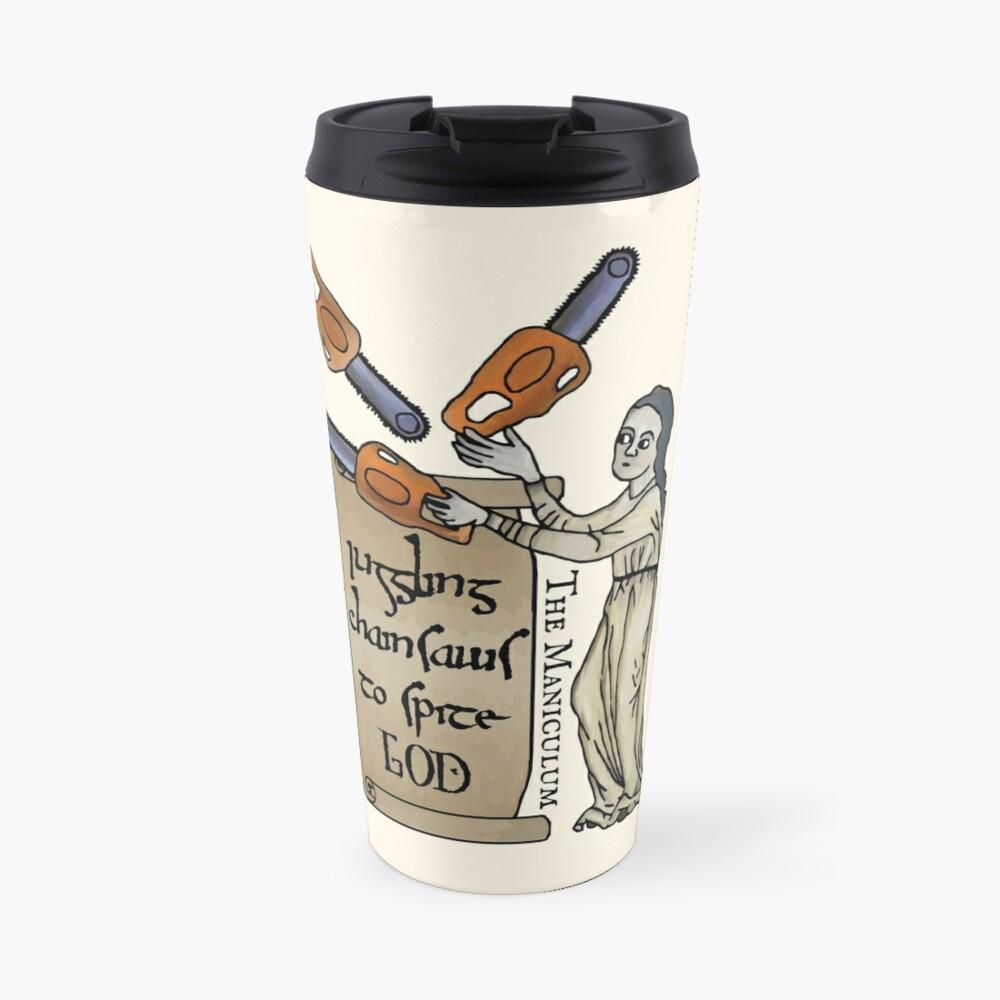 Juggling Chainsaws Travel Mug