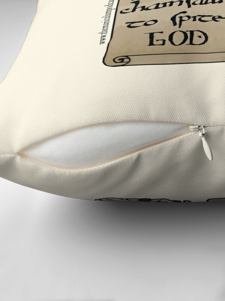 Alternate view of Juggling Chainsaws Throw Pillow