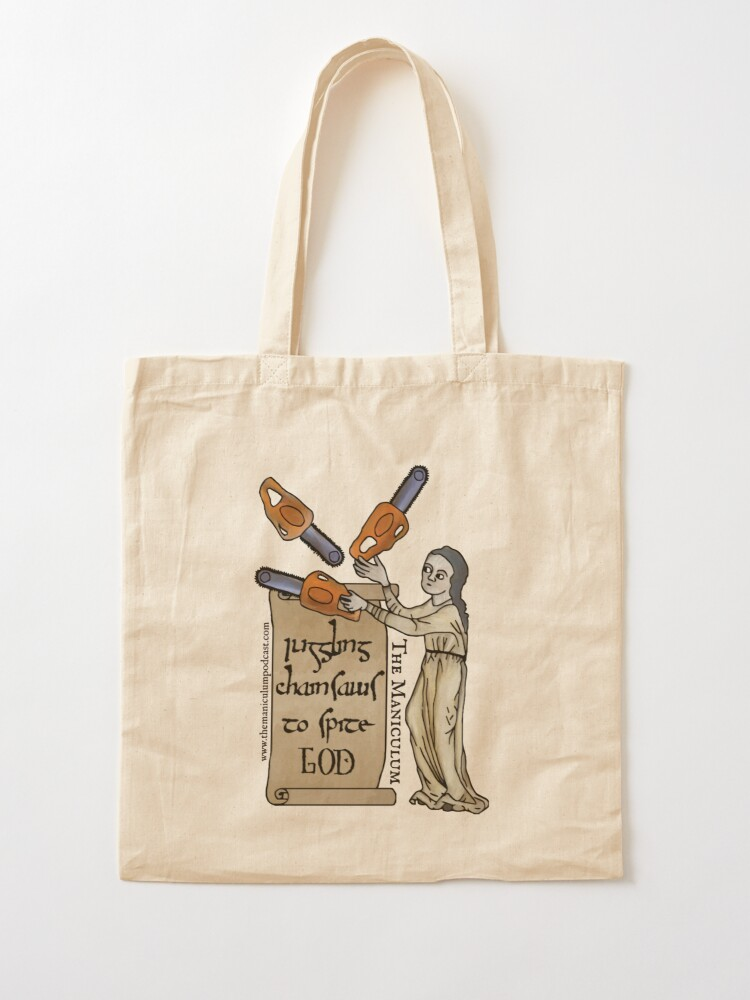 Alternate view of Juggling Chainsaws Tote Bag
