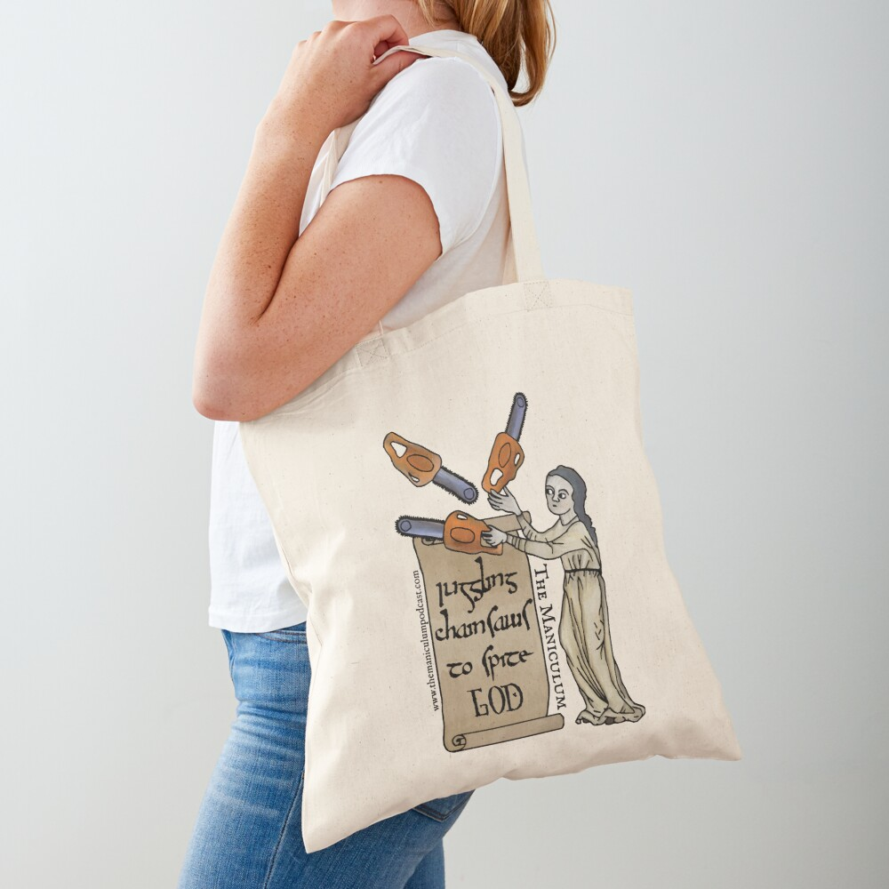 Juggling Chainsaws Tote Bag