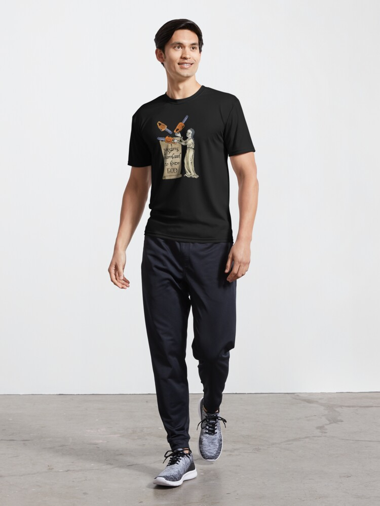 Alternate view of Juggling Chainsaws Active T-Shirt