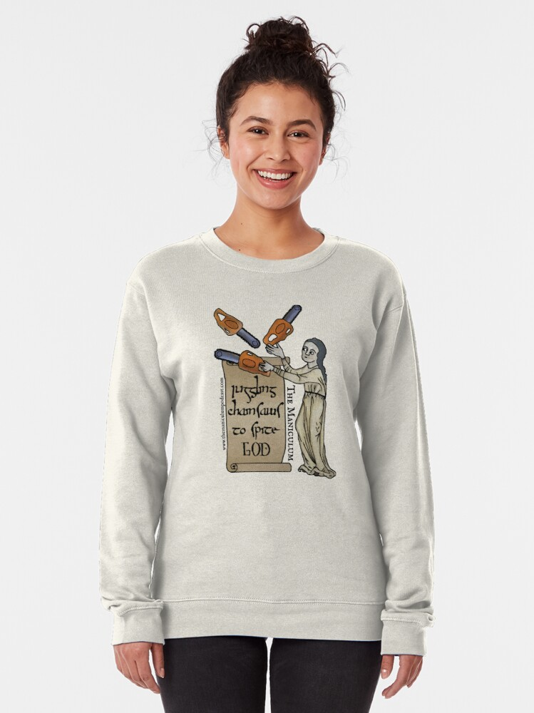 Alternate view of Juggling Chainsaws Pullover Sweatshirt