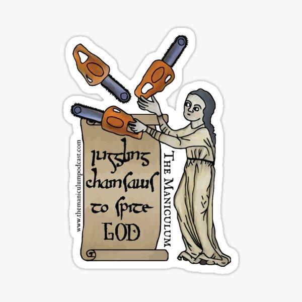 Juggling Chainsaws Sticker
