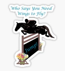 Who Needs Wings to Fly Horse T-Shirt, iPad & iPhone Case Sticker