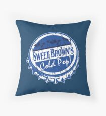 Sweet Brown's Cold Pop Bottlecap Shirt Clothing V2 Throw Pillow