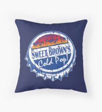 Sweet Brown's Cold Pop Bottlecap Shirt V1 Throw Pillow
