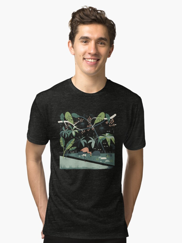 Nightshade Jungle Tri-blend T-Shirt Front