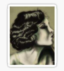 1930's Lady Sticker