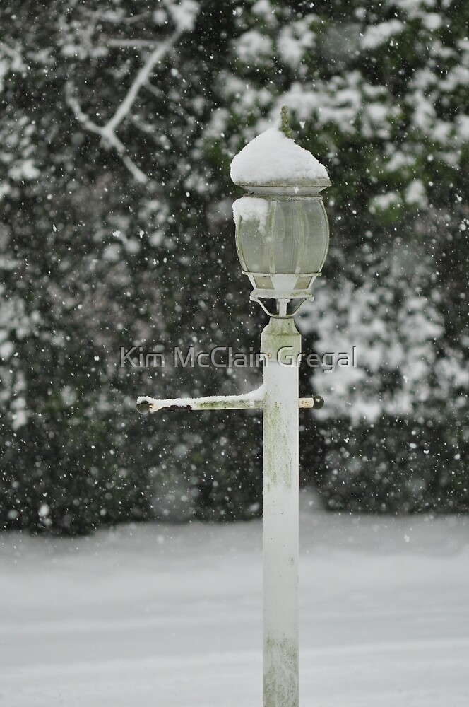 Lamp in Snow, As Is by Kim McClain Gregal