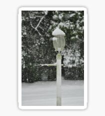 Lamp in Snow, As Is Sticker