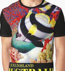 """AUSTRALIA QUEENSLAND""Great Barrier Reef Tourism Print Graphic T-Shirt"