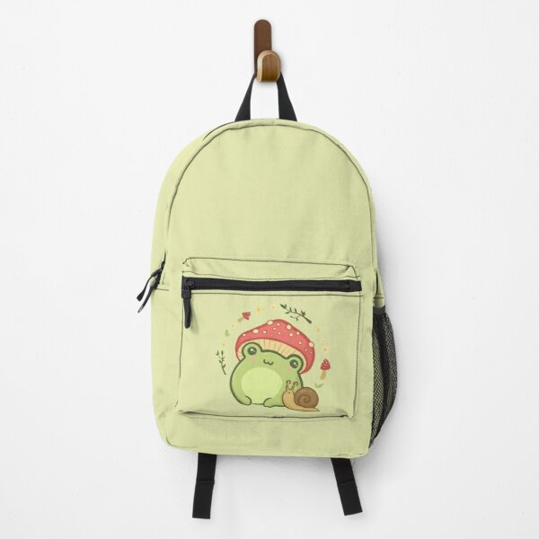 Cottagecore Aesthetic Cute Vintage Frog and Snail Backpack