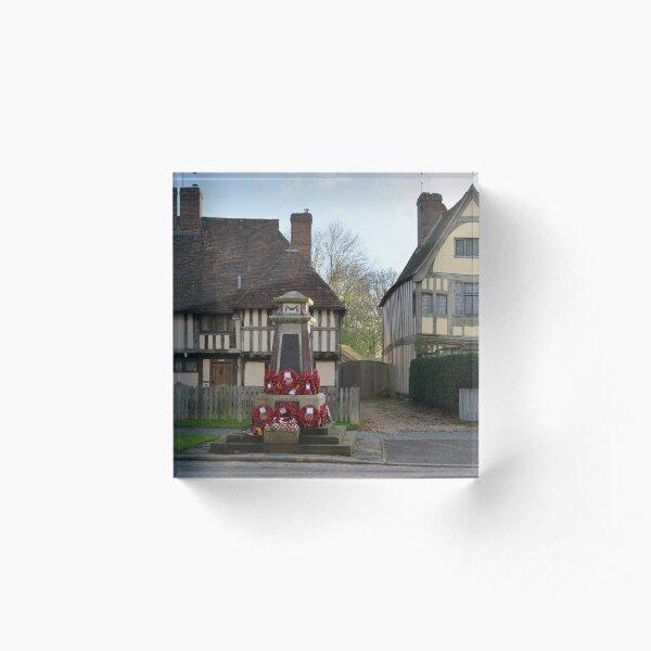 Remembrance, Headcorn Village Acrylic Block