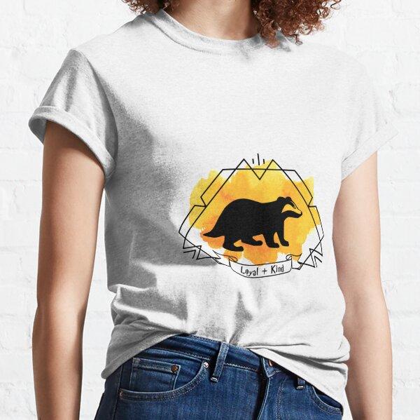 Huffle Badger Emblem Loyal Kind T-shirt Sticker Phone Case Classic T-Shirt
